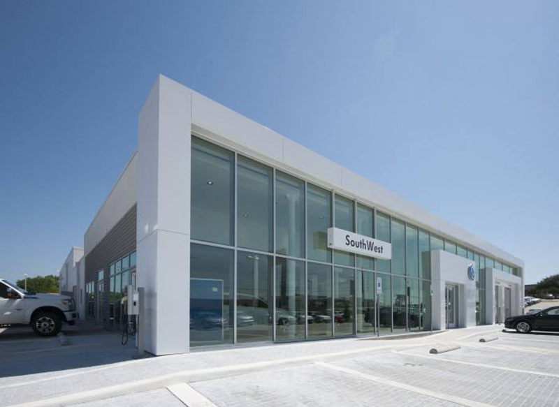 Layne Glass Project - SouthWest Dealership commercial glass