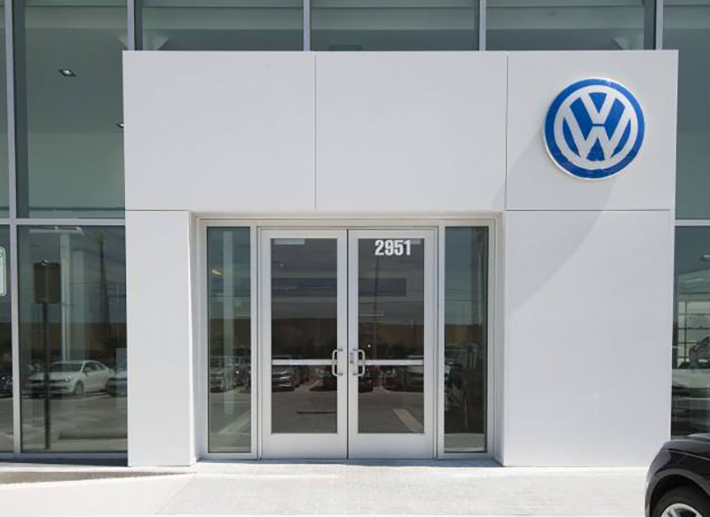 Layne Glass Project - Volkswagon Dealership Building